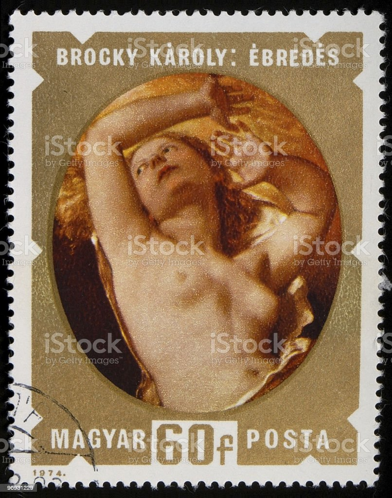 Nude stamp royalty-free stock photo