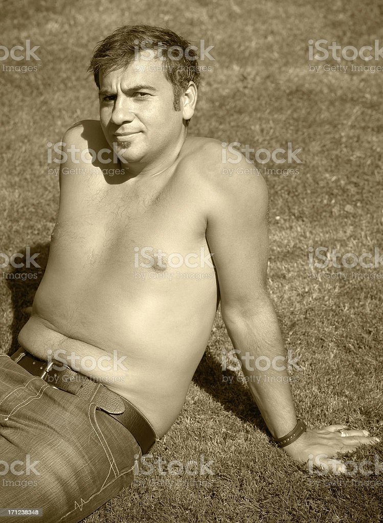 Nude Turkish Man royalty-free stock photo