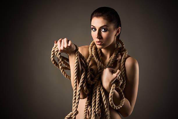 Cтоковое фото Телесный женщина в виде веревки