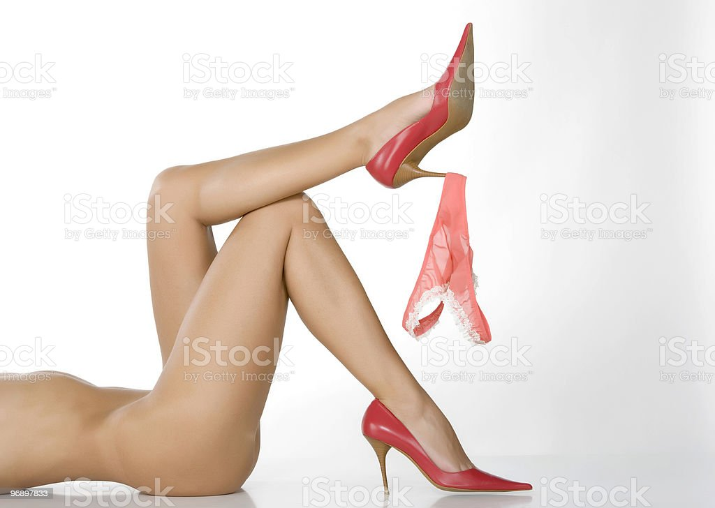 A nude woman with beautiful legs royalty-free stock photo