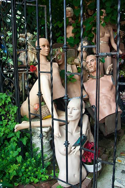 Weiblicher in Lahaska, Pennsylvania store Vorderseite – Foto