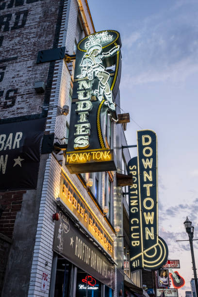 Nudies Honky Tonk in Nashville stock photo