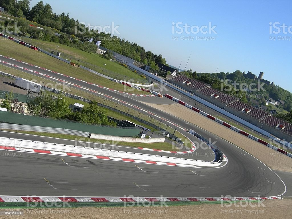 Nuerburgring Racecar Track royalty-free stock photo