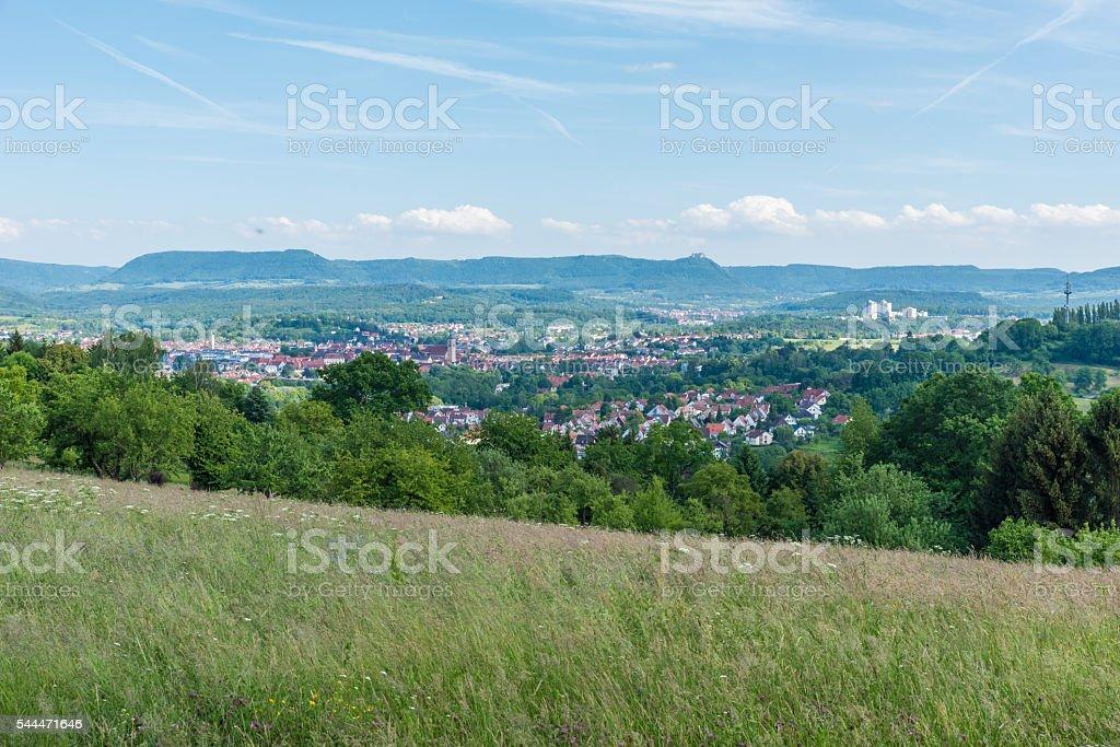 Nuertingen City in Germany stock photo