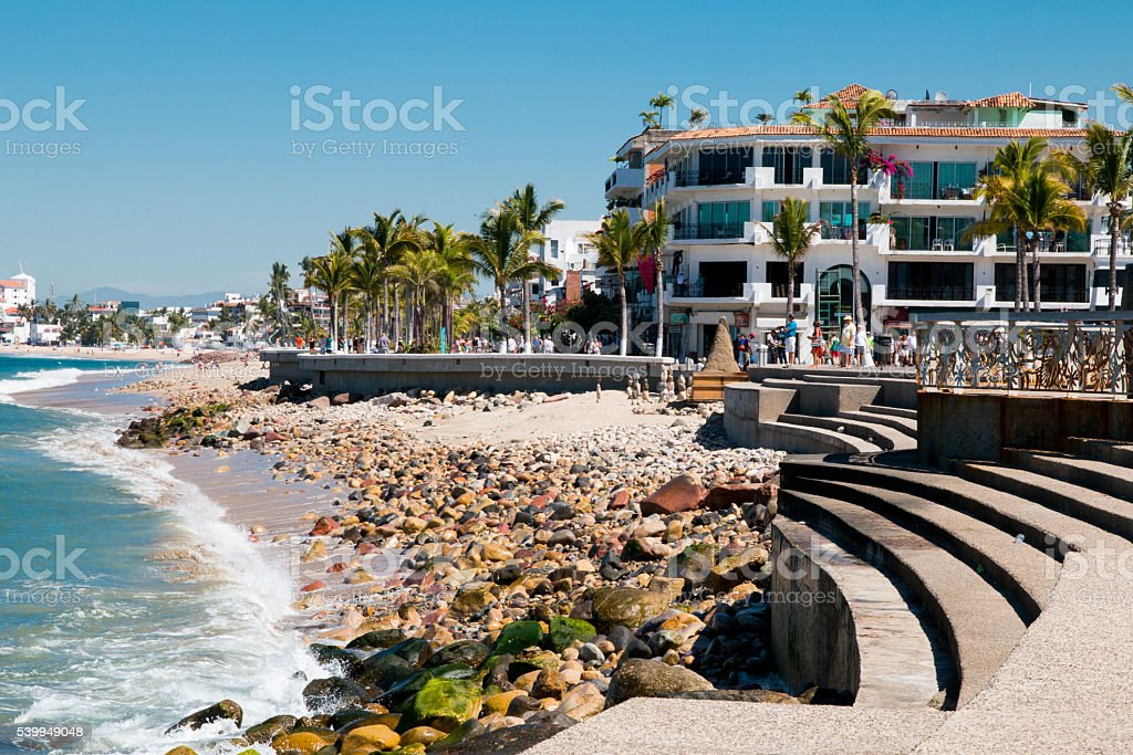Nuevo Malecon Boardwalk, Puerto Vallarta stock photo