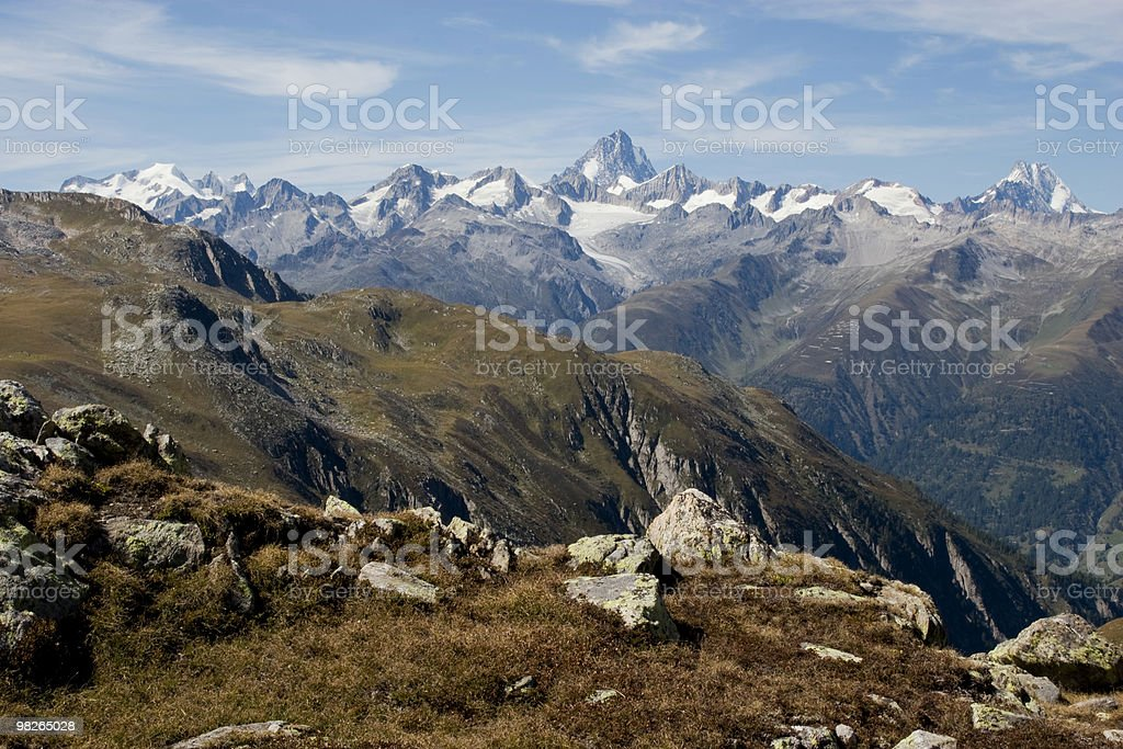 Nufenenpass royalty-free stock photo