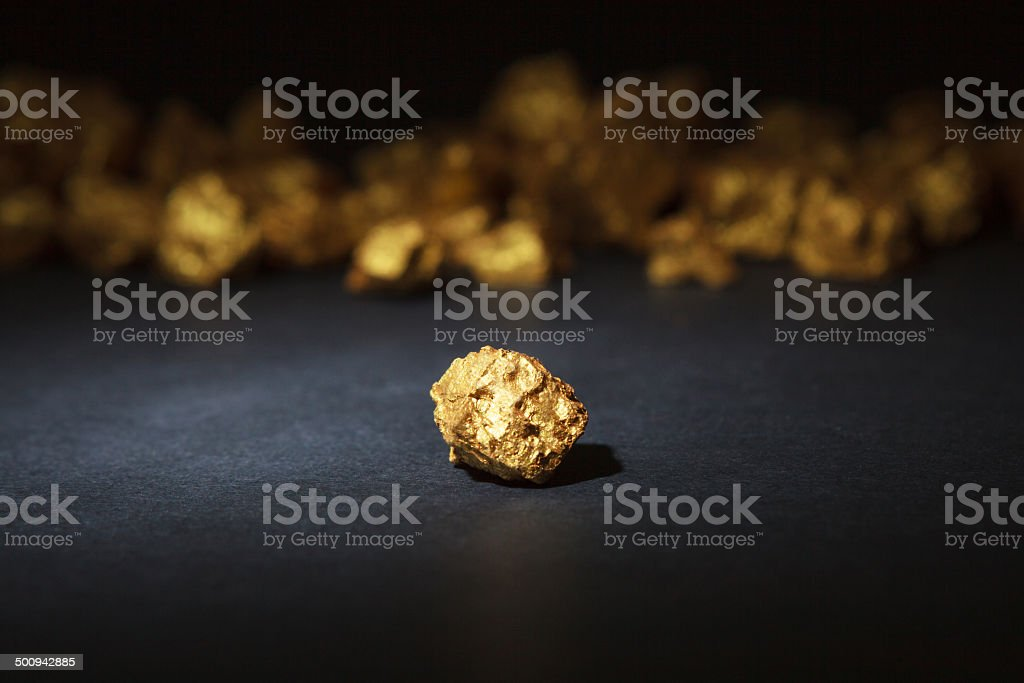 nugget gold stock photo
