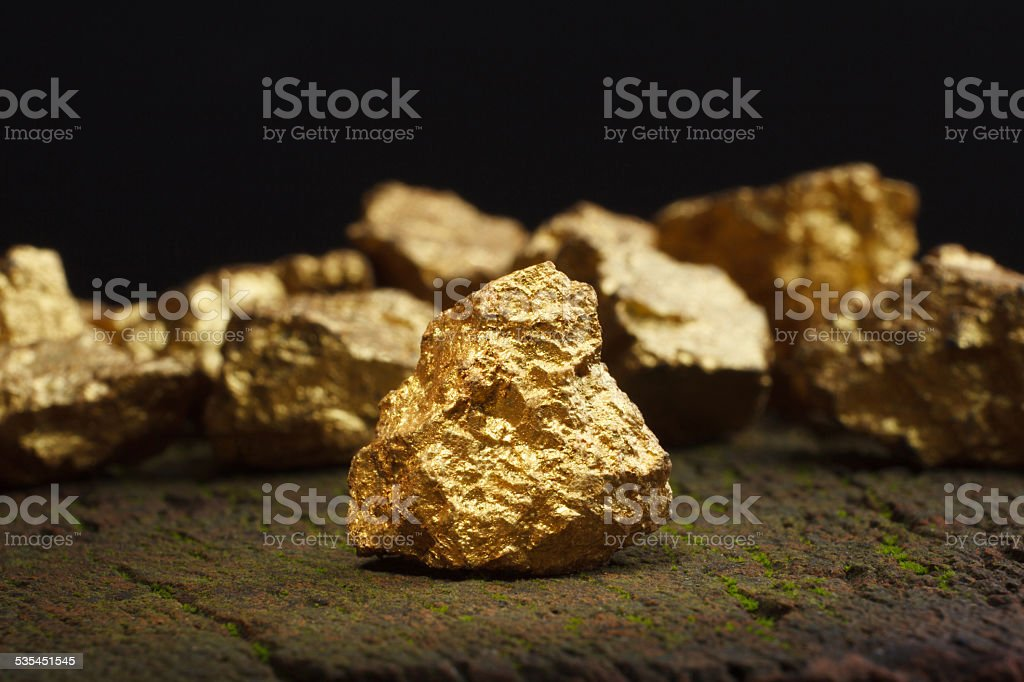 nugget gold royalty-free stock photo