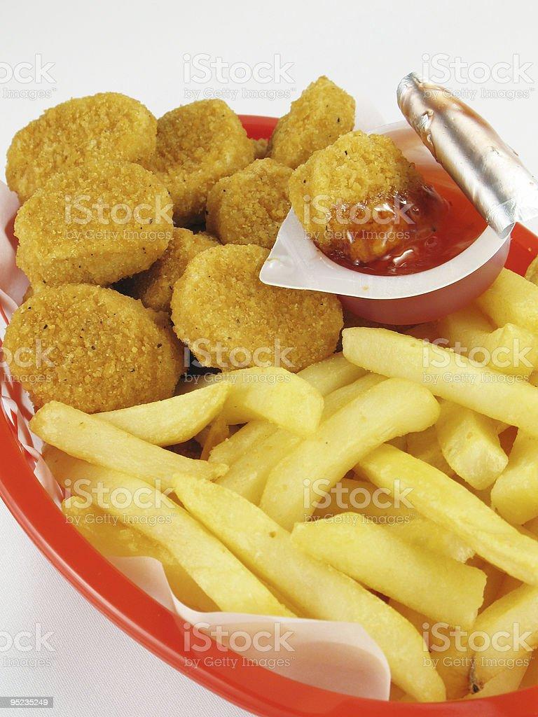 Nuggets Basket royalty-free stock photo