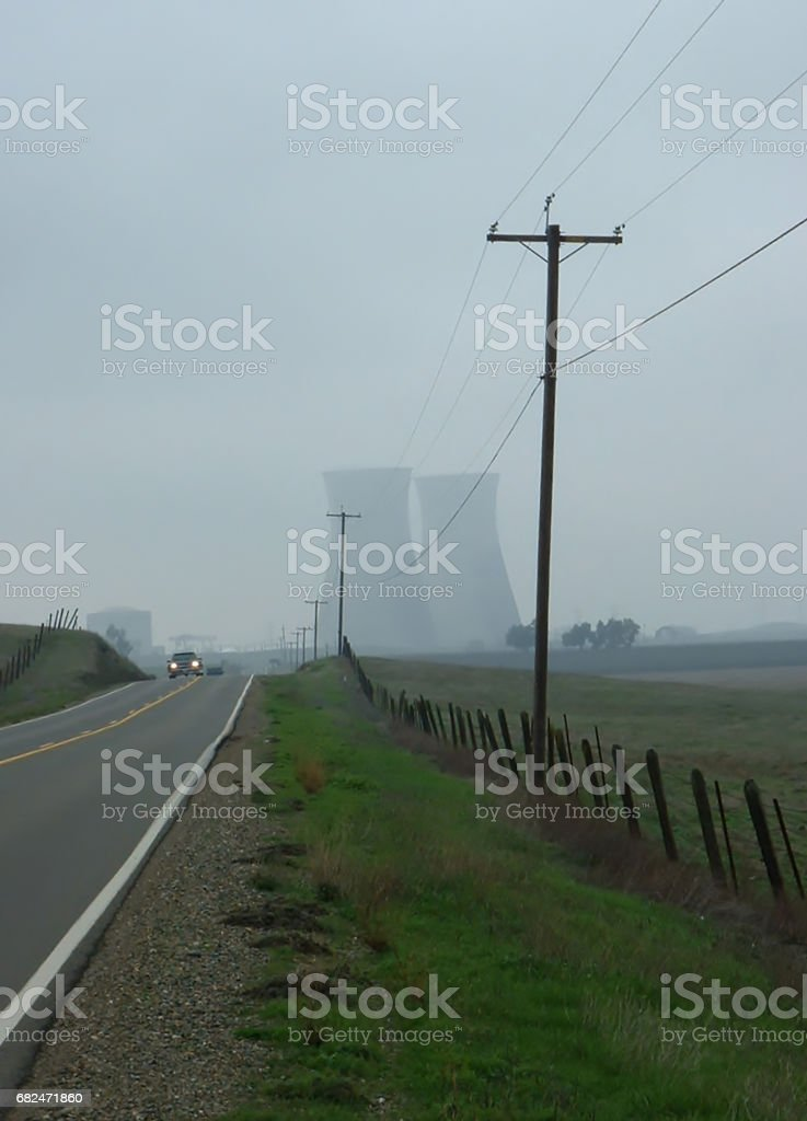 nuke in the fog royalty-free stock photo