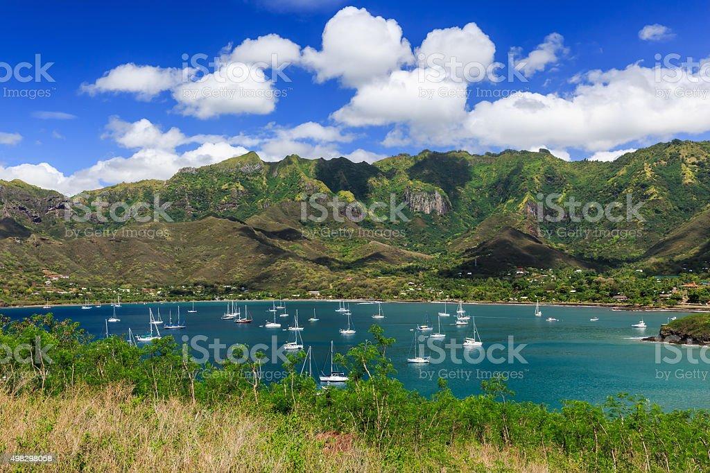 Nuku Hiva, Marquesas Islands stock photo