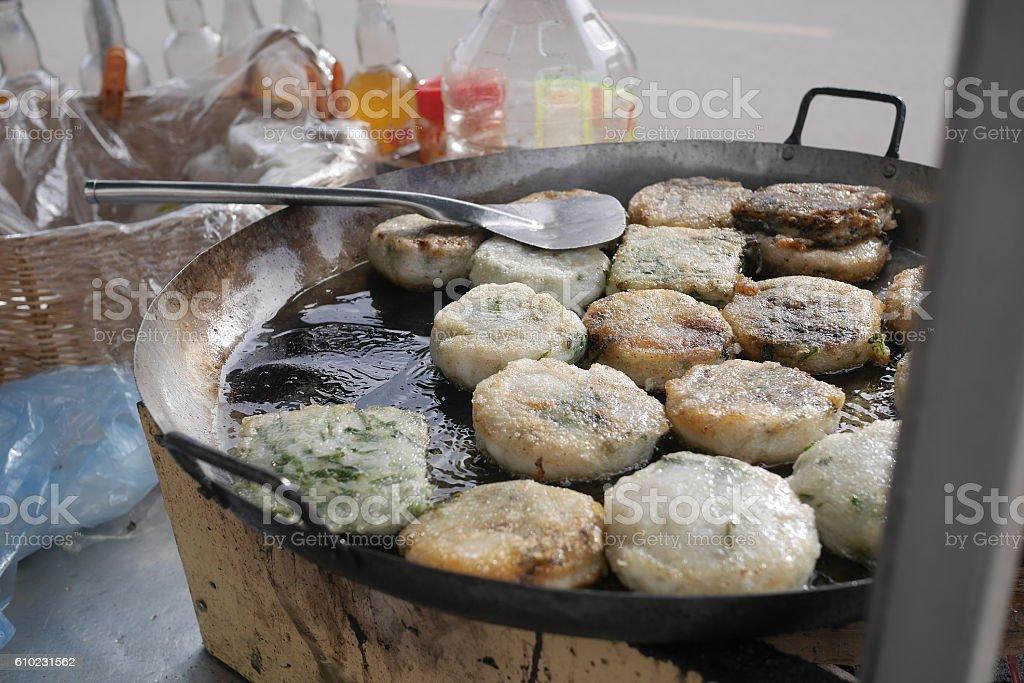 Num Kachay - Traditional cambodian street food cuisine. stock photo