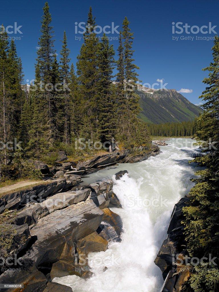 Numa Falls - British Columbia - Canada stock photo