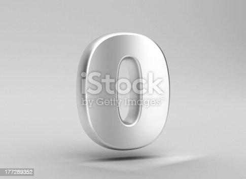 istock number 0 aluminum iron on grey background 177289352