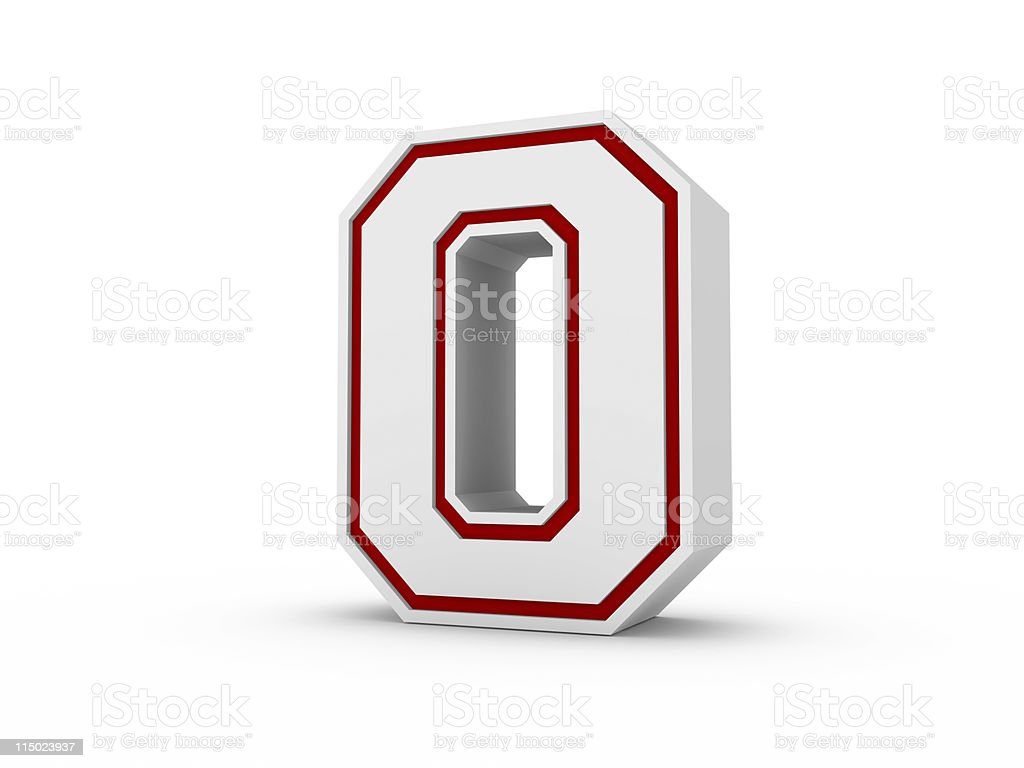 Number 0 in School Style royalty-free stock photo