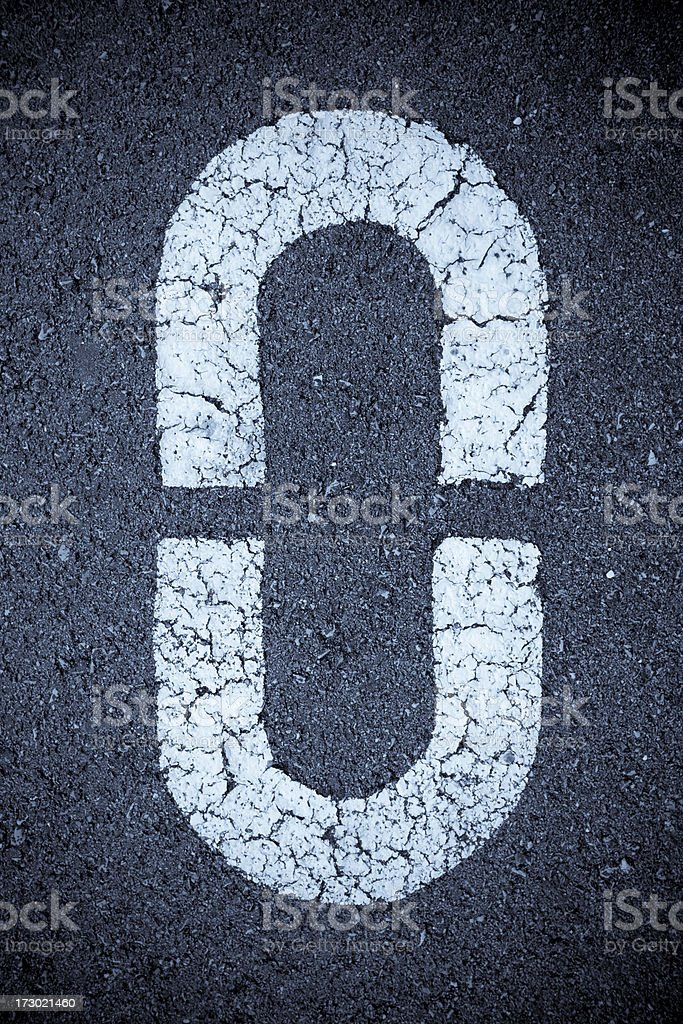 Number 0 stock photo