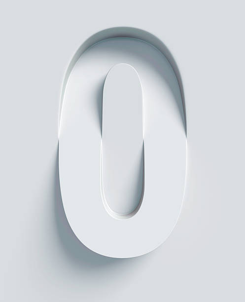number 0 slanted 3d font engraved and extruded from surface - zero stock pictures, royalty-free photos & images