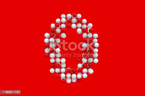845307368 istock photo Number 0 Spheres 1160811197