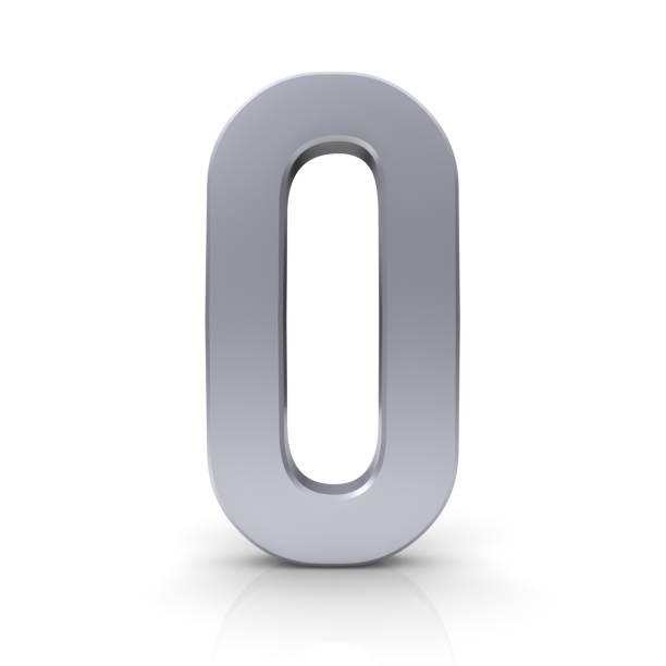 number 0 zero 3d sign silver symbol icon isolated symbol ninth place icon - zero stock pictures, royalty-free photos & images