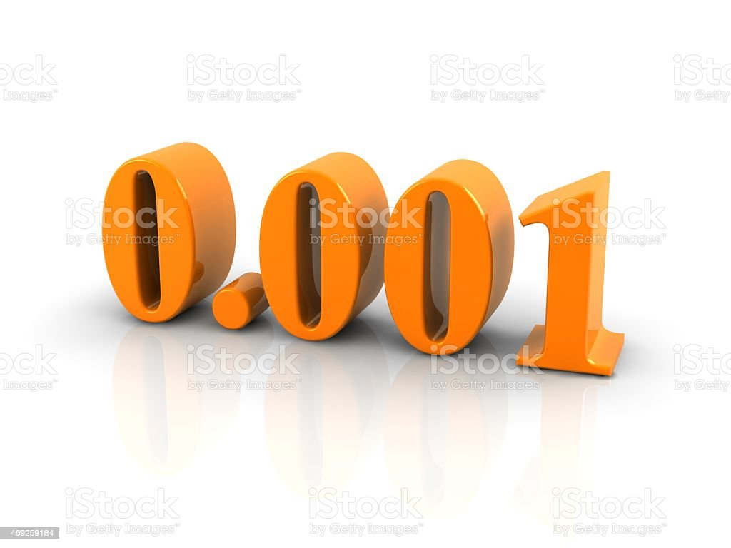 number 0.001 stock photo