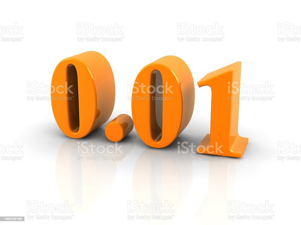 number 0.01 stock photo