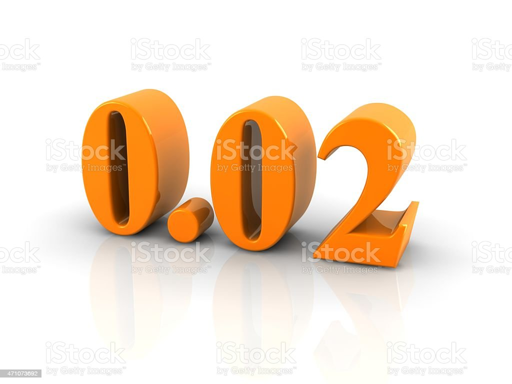 number 0.02 stock photo