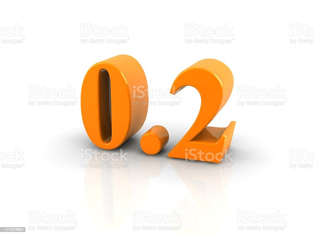 number 0.2 stock photo