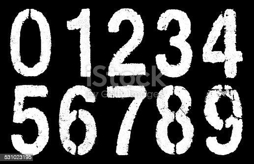 istock number 0-9 on black 531023195