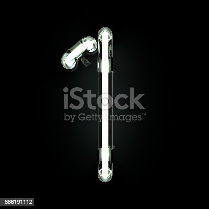 845307398istockphoto Number 1, Alphabet made from Neon Light on black background. 866191112