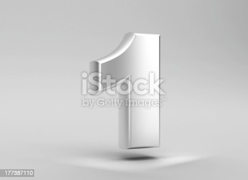 istock number 1 aluminum iron on grey background 177387110
