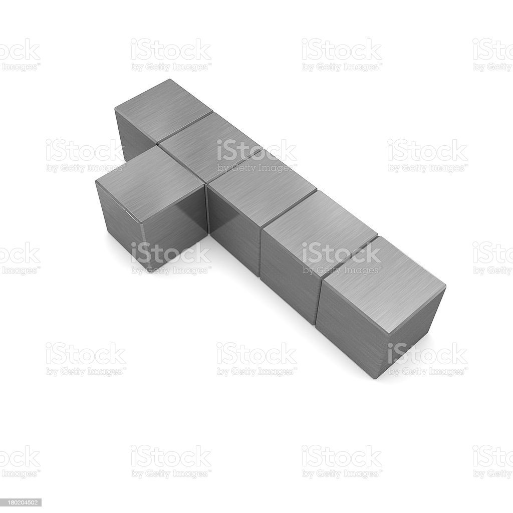 number 1 cubic metal royalty-free stock photo