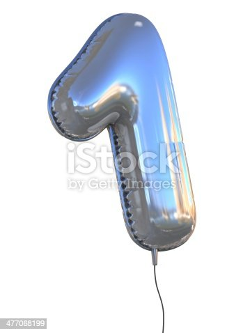 istock number 1 one balloon font 477068199