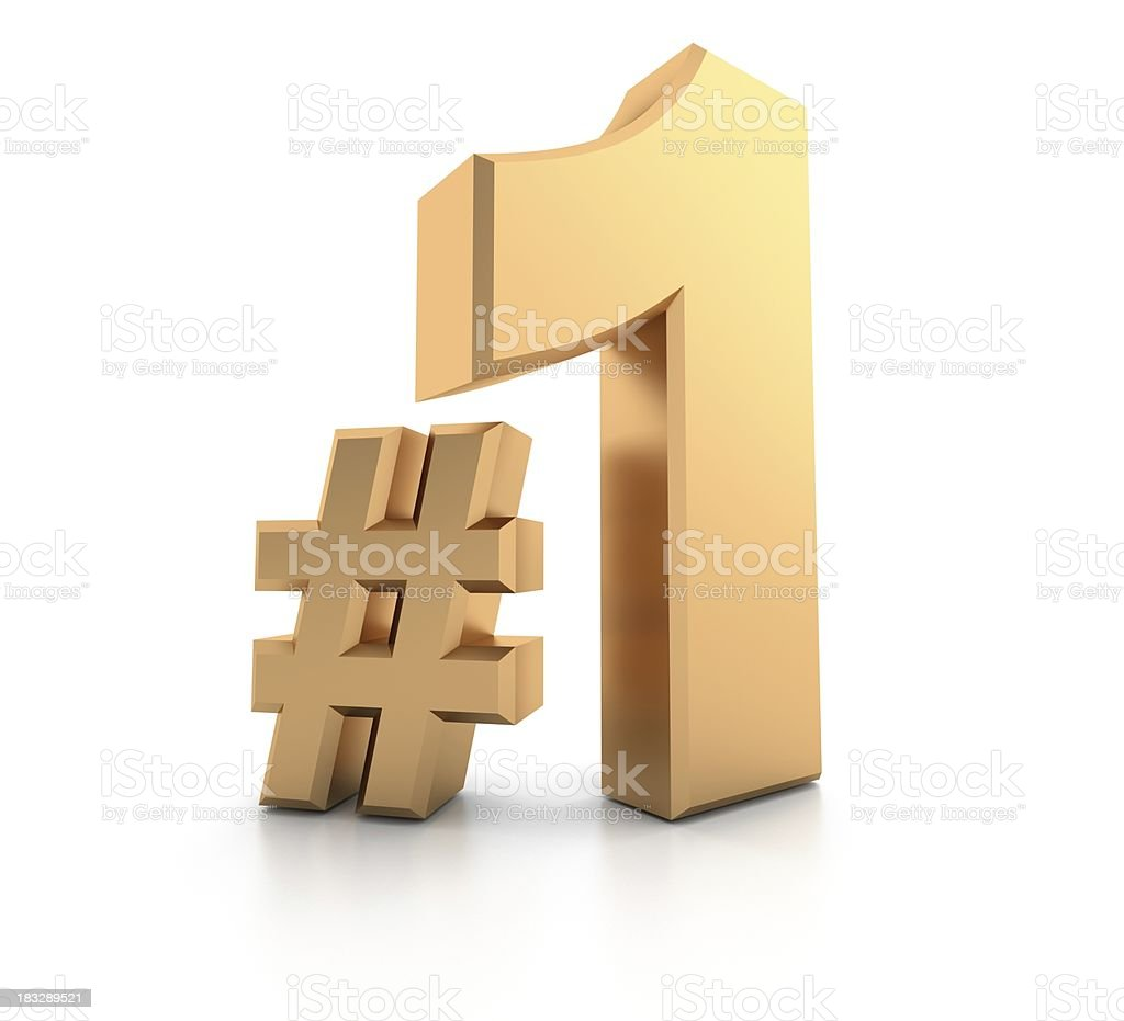 number 1 royalty-free stock photo