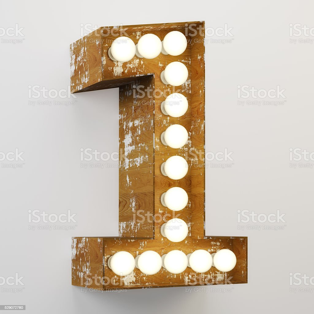 Number 1 Sign stock photo