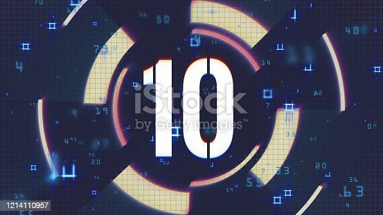 Number 10 background footage