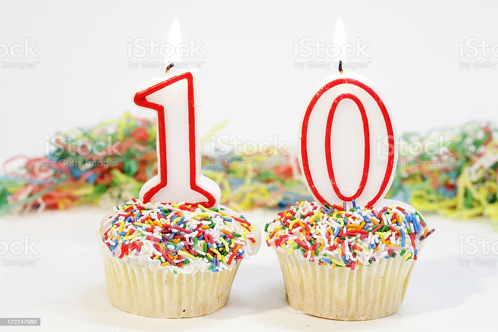Number 10 Party Cake royalty-free stock photo