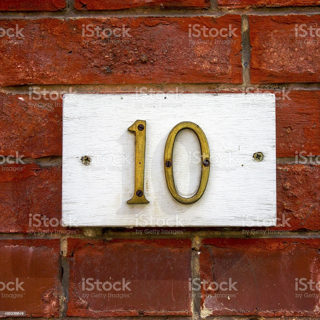 Number 10 stock photo