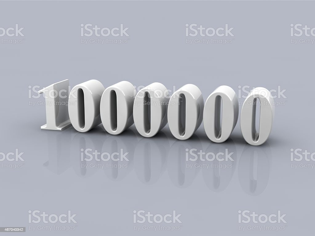number 1000000 stock photo