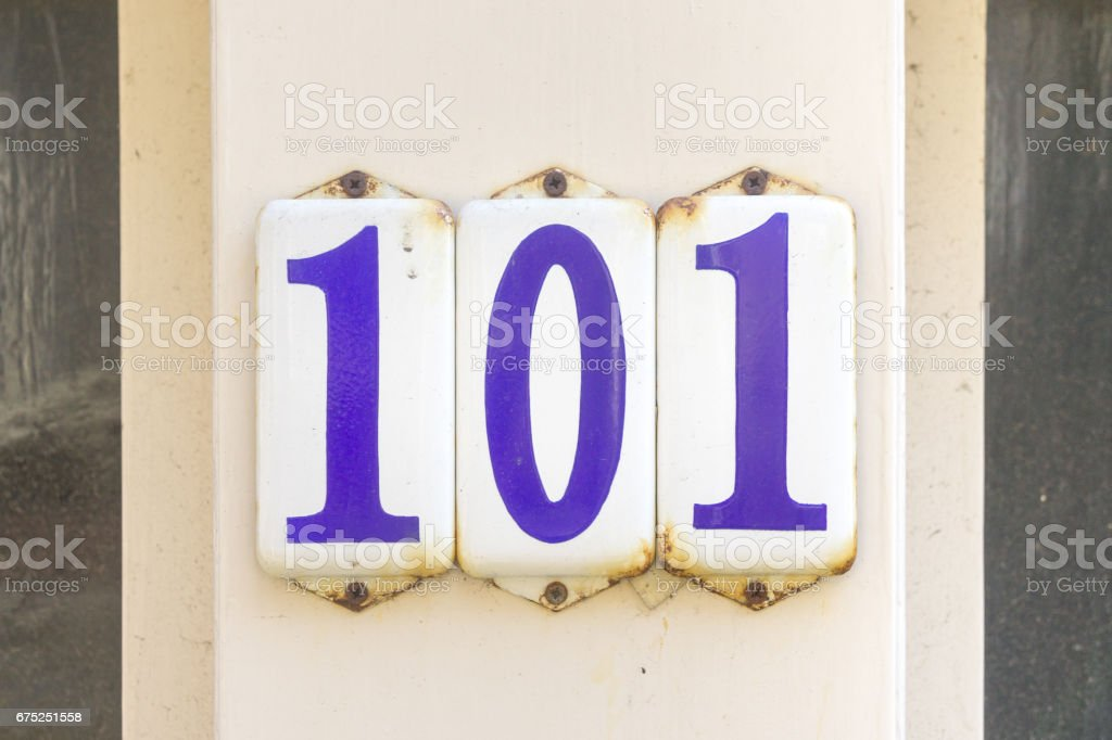 Number 101 stock photo