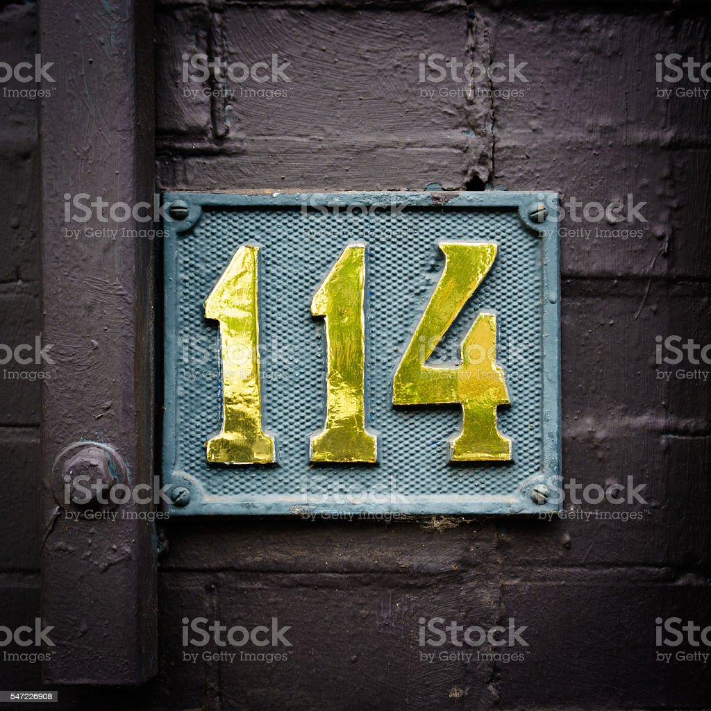 Number 114 stock photo