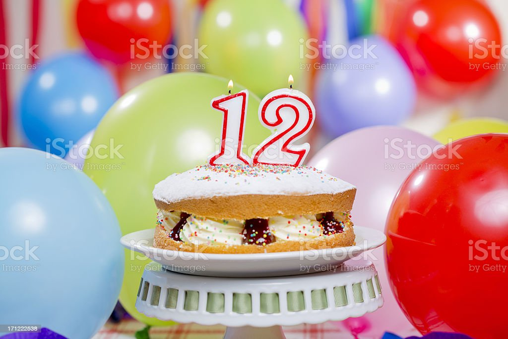 Number 12 Birthday Cake Stock Photo More Pictures Of Baked Pastry