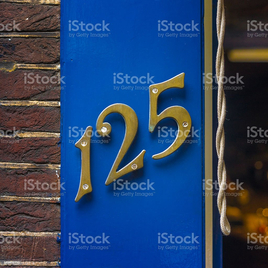Number 125 stock photo