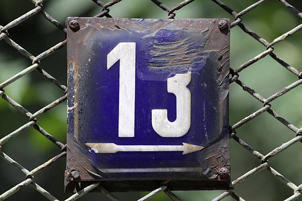 zahl 13 - number 13 stock-fotos und bilder