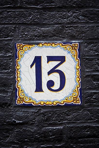 number 13 tile - number 13 stock-fotos und bilder