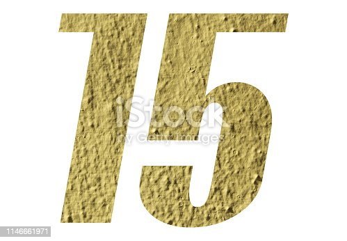 istock Number 15 with yellow wall on white background 1146661971