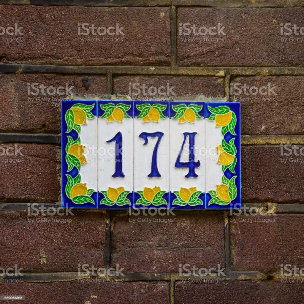Number 174 stock photo
