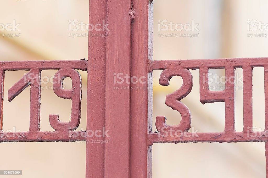 Number 1934 stock photo