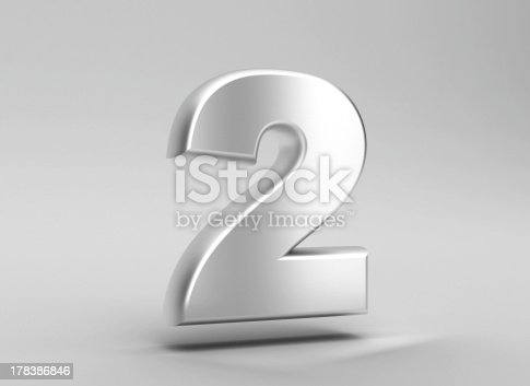 istock number 2 aluminum iron on grey background 178386846