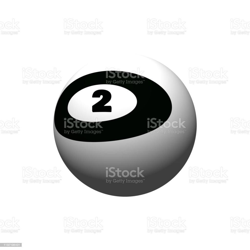 Bola De Billar Número 2 Foto De Stock Y Más Banco De Imágenes De Billar Deporte De Taco Istock