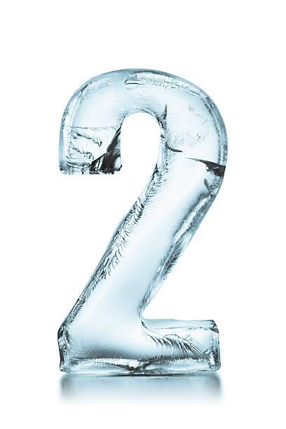 Nummer 2 gefrorene ice-block – Foto